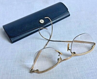 Vintage COC Wire Rimmed Eye Glasses 1/10 12K GF With Case