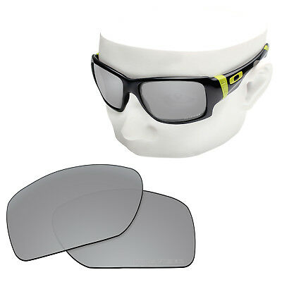 b36853a769f OOWLIT Replacement Sunglass Lenses for-Oakley Big Taco POLARIZED Silver  Titanium