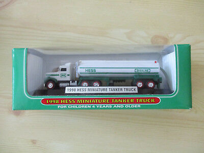 Hess 1998 Miniature Tanker Truck -- This is the First Mini Hess Truck