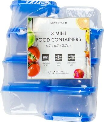 8pc 7cm Mini Storage Boxes Container Plastic Kitchen Small Food Pot Baby