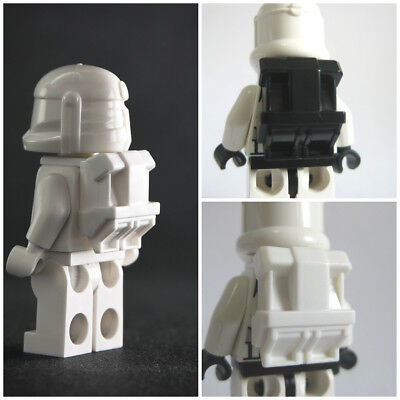 Custom COMMANDO BACKPACK for Minifigures -Star Wars Clones -Pick your Color!