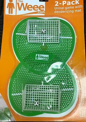 Urinal Game with Deodorizing Mat-2 pack Soccer