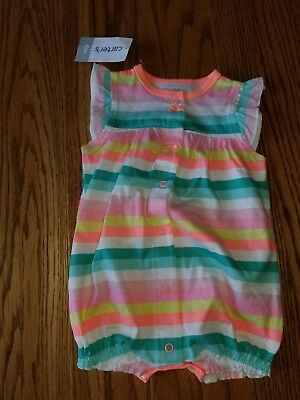 82af4d4770445 Nwt Girls Carter's Baby 6 Months 6M Romper One Piece Cupcake Multi Colored