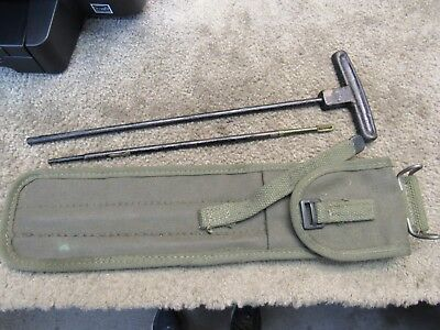 WW2 M1 Carbine Cleaning Rod With Brass Tip In Vietnam Era Carry Case Marked RRA