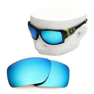 6c560642d82 OOWLIT Replacement Sunglass Lenses for-Oakley Big Taco POLARIZED - Blue  Mirror