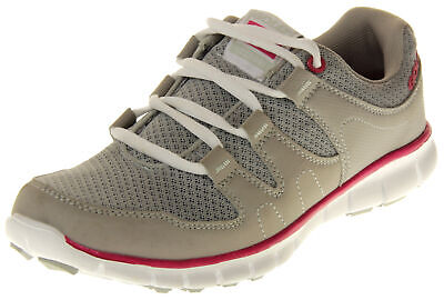 PINK LACED TRAINERS GOLA WOMENS TEMPE GREY SIZES 3,4,6 8