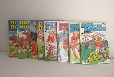 Roy Of The Rovers Annuals 1978 1979 1980 1981 1982 1983 1984 1985 bundle lot