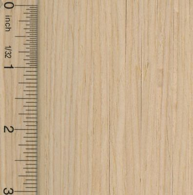 Dollhouse 1:12 Scale Wood Flooring Sheet in Unfinished Wood
