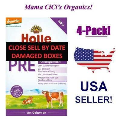 ***FREE EXPEDITED SHIP!*** 4 BOXES Holle Stage PRE Organic Baby Infant Formula