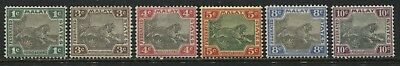 Federated Malay States 1901 Tigers 1 cent to 10 cents mint o.g.
