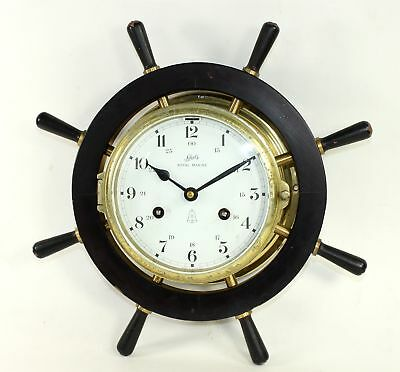 SCHATZ ROYAL MARINE 8 DAY TIME AND STRIKE SPOKED CLOCK - PARTS or REPAIR BG148