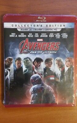 AVENGERS Age of Ultron COLLECTORS Edition 3D!!! BR+Digital HD  NS