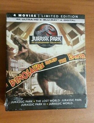 Jurassic Park Collection  4K Ultra HD /BR + Digital , 4 MOVIES !!!