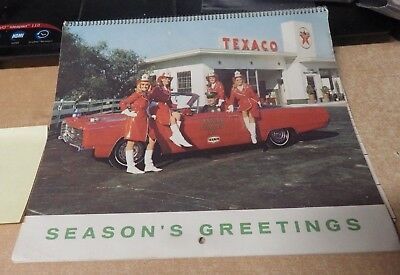 Vintage Texaco Gas 1968 Calendar Seasons Greetings Christmas Gas & Oil  Erie Pa