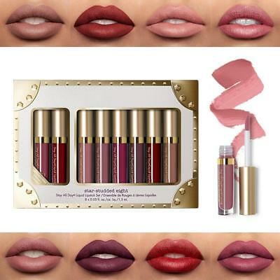 8Pcs Matte Shimmer Liquid Lipstick Waterproof  Long Lasting Lip Gloss Set