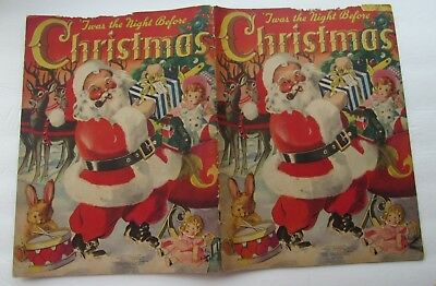 """Twas The NIght Before Christmas 1942 Linen"