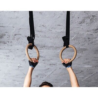 Wooden Gymnastic Rings Olympic Gym Rings Strength Training
