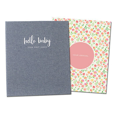 Baby Memory Book - Photo Keepsake to Record Milestones & Firsts (LGBT Friendly)