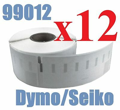 12 x Rolls Labels for Dymo Seiko 99012 36mm x 89mm LabelWriter 450/450 Turbo