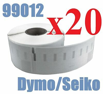20 x Rolls Labels for Dymo Seiko 99012 36mm x 89mm LabelWriter 450/450 Turbo