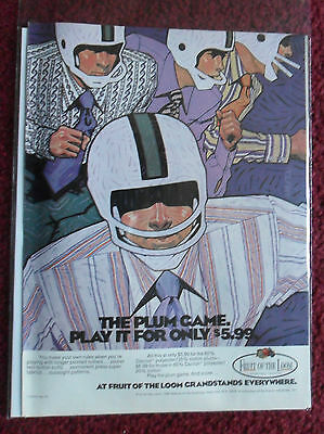 1971 Print Ad Fruit of the Loom Men's Shirts ~ Richard AMSEL Art Football Player