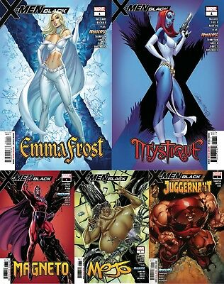 X-Men Black 1 Magneto Emma Frost Juggernaut Mystique Mojo Nm J Scott Campbell