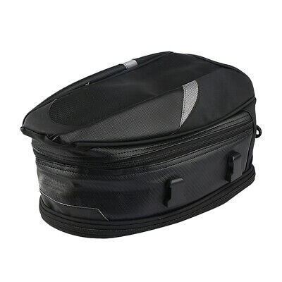 Motorcycle Rear Back Seat Bag Storage Tail Helmet Tank Bags w/Rain Cover