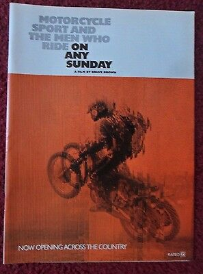 1971 Print Ad ON ANY SUNDAY Motorcycle Movie Preview ~ Steve McQueen Bruce Brown