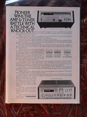 1979 Print Ad Pioneer Amplifier ~ Wins the Amp & Tuner Battle