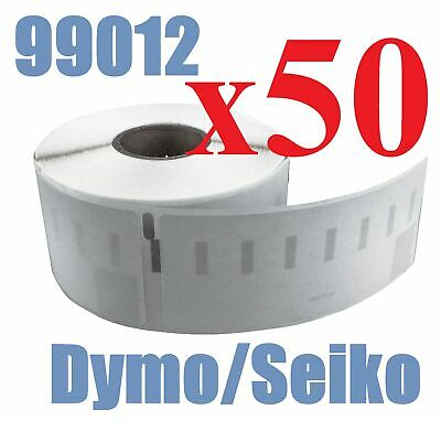 50 x Rolls Labels for Dymo Seiko 99012 36mm x 89mm LabelWriter 450/450 Turbo