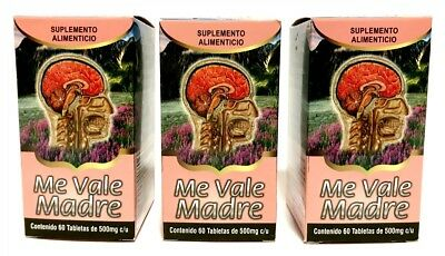 3 pack- ME VALE MADRE 180 TABLETS- Natural Stress Relief EXP 2021,
