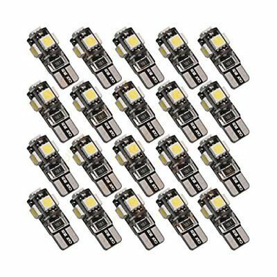 50Pcs Ice Blue Car Canbus Error Free T10 194 W5W 5-SMD LED License Plate Lights