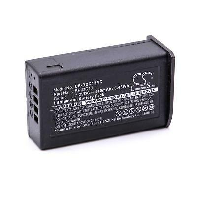 Batteria 900mAh per Leica Silver 19800, T, T Digital Camera, BP-DC13