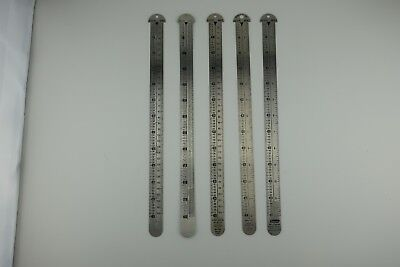 Letterpress Line Gauge agate Inches points inches printers Ruler 12""