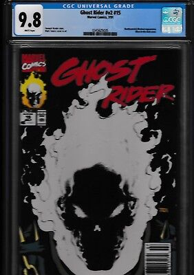 Ghost Rider V2 #15 CGC 9.8 White Pages, Glow in the Dark cover