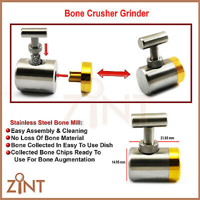 Dental Bone Crusher Mill Implant Bone Grafting Grinder Augmentation Lab Tools CE