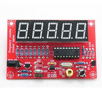 5 Digital LED 1Hz-50MHz Programmable Crystal Oscillator Frequency Counter Meter