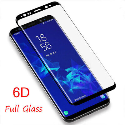 6D Full Cover Tempered Glass Screen Protector Samsung Note 8 9 S9 S9+ S8 Plus