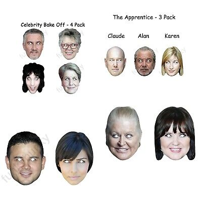 Alan Sugar Face Party Mask Card A4 Fancy Dress TV Ladies Men Apprentice