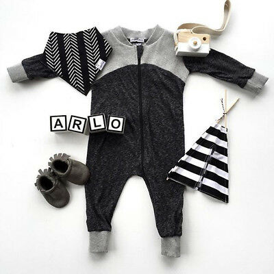 US Cute Romper Trousers Toddler Kid Baby For Boys Warm Clothes Jumpsuit Coverall