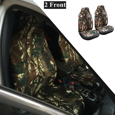 Set of 2 Universal Camouflage Front Breathable durable Seat Cover for Car SUV