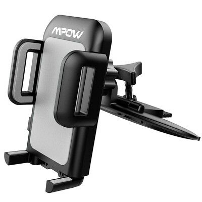 Mpow CD Slot Car Phone Holder Mount One-Touch Design Universal Fit Quick Release