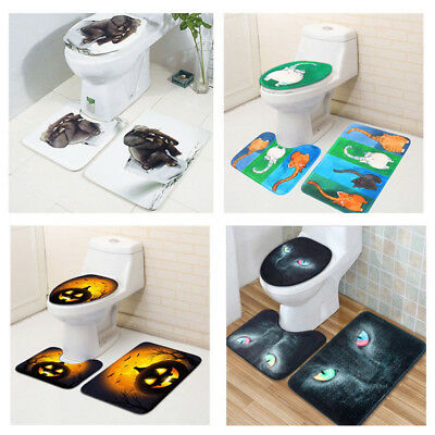 Groovy 3Pcs Bathroom Mat Set Non Slip Bath Rug Door Carpet Toilet Gmtry Best Dining Table And Chair Ideas Images Gmtryco
