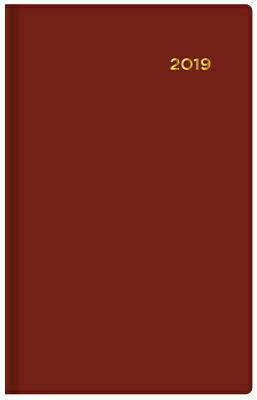 Diary 2019 Collins Belmont Burgundy Pocket Day to Page #157 8x13cm