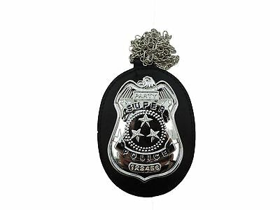 FBI Detective Police Officer Badge On Neck Chain Costume Accessory