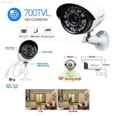 Lot4 700TVL High Resolution CCTV Outdoor Home Security IR Camera Kit Waterproof