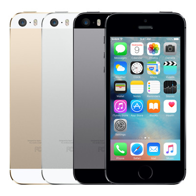 Apple iPhone 5S 32GB 64GB Unlocked GSM 4G LTE Smartphone Gold Space Gray Sliver