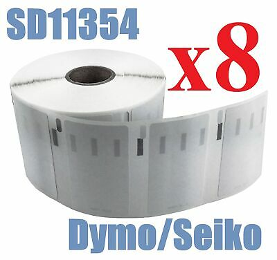 8 x Rolls Labels for Dymo Seiko 11354  57mm x 32mm LabelWriter 450/450 Turbo