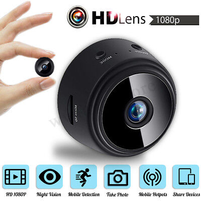1080P Mini Wireless WIFI Hidden IP Camera Baby Monitor Home Security Camcorder