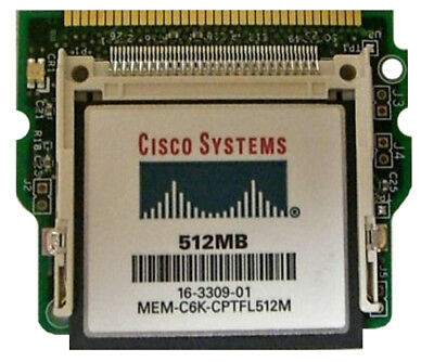 Cisco CF-ADAPTER-SP SUP720 Boot Flash Adapter wtih 512Mb CF WS-CF-UPG - TESTED